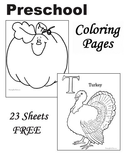 Free Thanksgiving Coloring Pages For Preschoolers (With