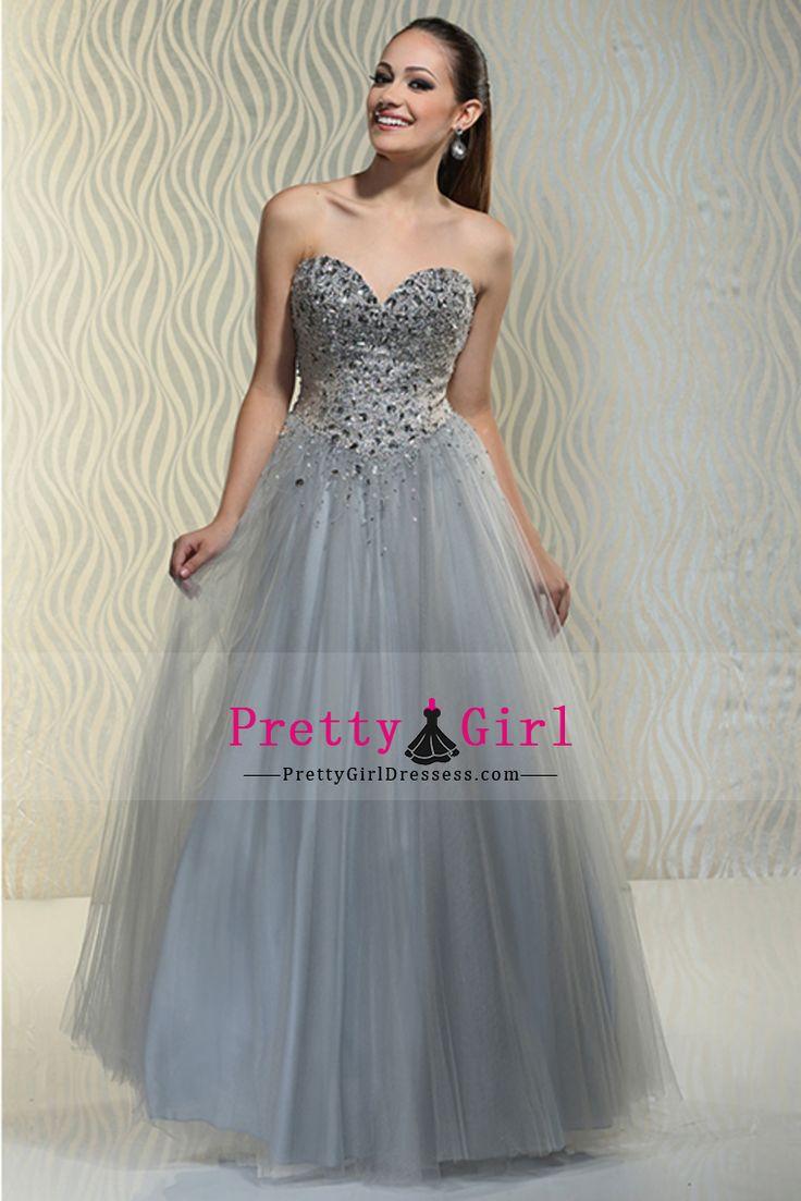 2016 Beaded Bodice Sweetheart Prom Dresses A Line Tulle Floor Length US$ 209.99 PGDPY64SY98 - PrettyGirlDressess.com for mobile