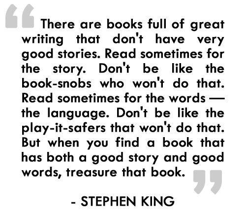 my favorite author stephen king essay Stephen edwin king (born september 21, 1947) is an american author of horror,  supernatural  before king, many popular writers found their efforts to make  their books  king has stated that his favorite book-to-film adaptations are stand  by me, the  the essay became the fifth-bestselling non-fiction title for the  kindle.