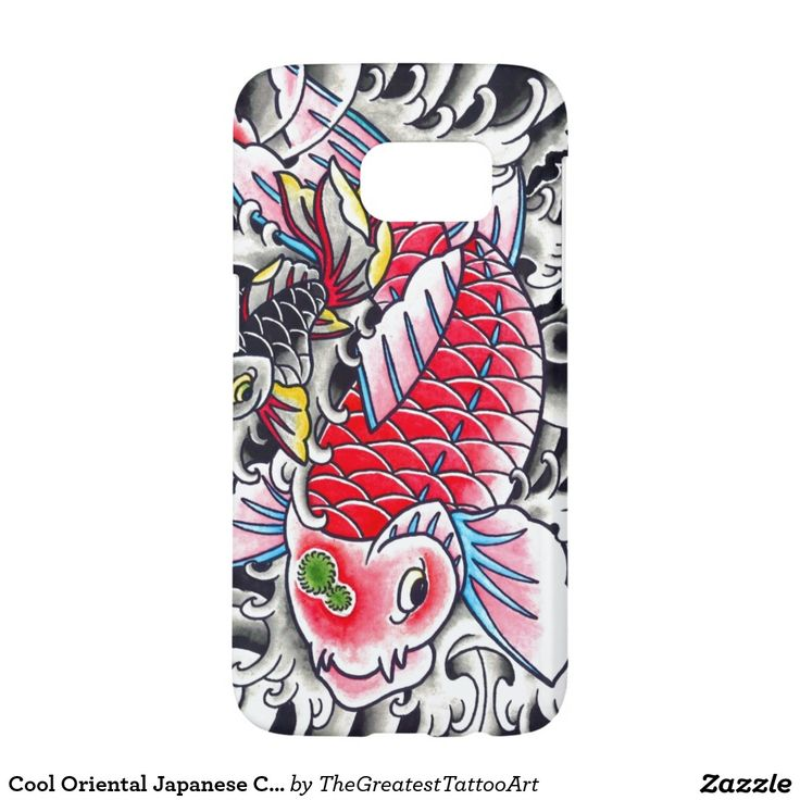 Cool Oriental Japanese Classic Ink red Koi Fish Samsung Galaxy S7 Case