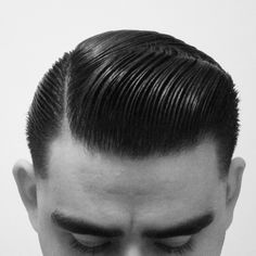 Executive Contour hairstyle using Layrite Super Hold pomade, Vintage Men's hair by @layrite_gent