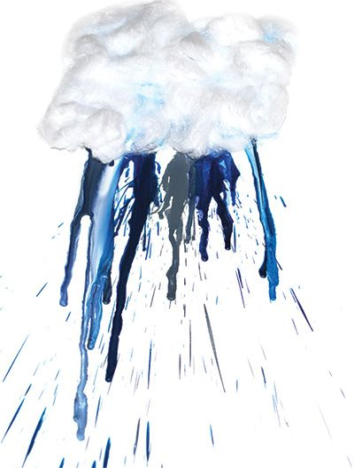 Melted Crayon Rain Cloud