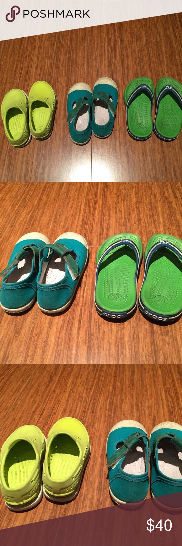 Baby shoes for sale!!! Size 7 Native shoes Size 25 Jacadi shoes ( Jacadi size 25=US size 8-9 ) Size 8-9 Crocs  Bought all from South Coast Plaza Jacadi store and Nordstrom. Worn by only one kid. good condition. If you buy it I'll do laundry for you before I send it. :) Jacadi, Native shoes, Crocs Shoes