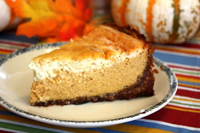INSANELY delicious pumpkin cheesecake with gingersnap and pecan crust ...