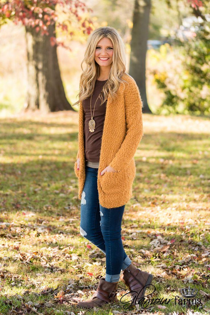 Warm Fuzzy Feelings Cardigan - Mustard