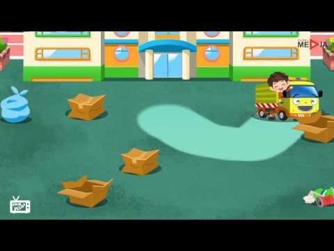 Camion della spazzatura, Cartoni animati per bambini, Cartone animato di...