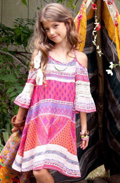Tween Bohemian Summer Dress Preorder 7 to 16 Years