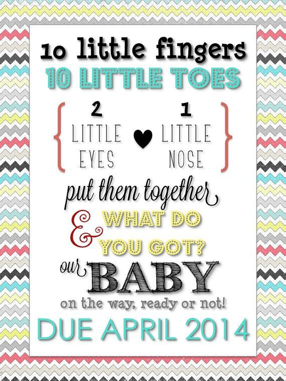Pregnancy Announcement Poems to Grandparents | Typography Pregnancy Announcement via THE LifeStyled COMPANY! Instant ...