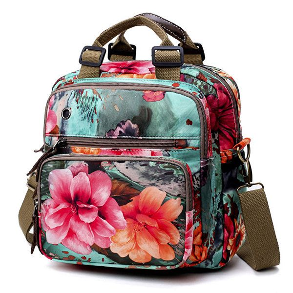 National Style Outdoor Flower Pattern Shoulder Bag Crossbody Bag Mommy Backpack For Women  #men #women  #bags #fashion