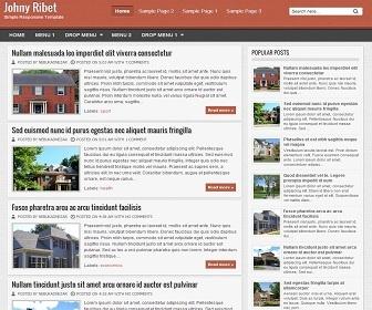 Johny Ribet Blogger Template