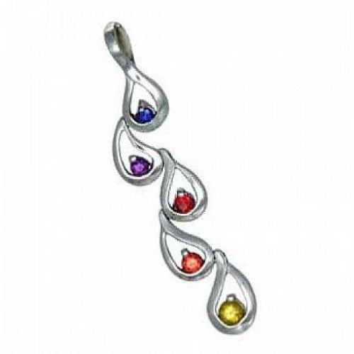 11 best rainbow sapphire pendants images on pinterest jewelry rainbow sapphire journey pendant 18k white gold 12ct tw aloadofball Gallery