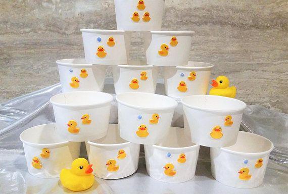 13 Yellow ducky white paper 8oz/200ml ice-cream gelato cup