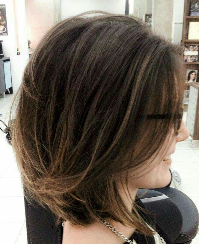 natural, brunette hair color. Trending short hair style. Keep your hair beautiful with @emeraldforestus shampoo & conditioner products.