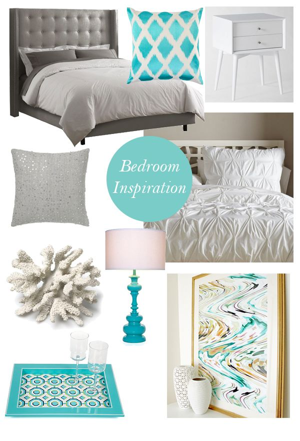 25 best ideas about gray turquoise bedrooms on pinterest - Grey and turquoise bedroom ideas ...