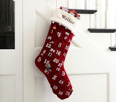 Luxe Velvet Stocking Advent Calendar #pbkids