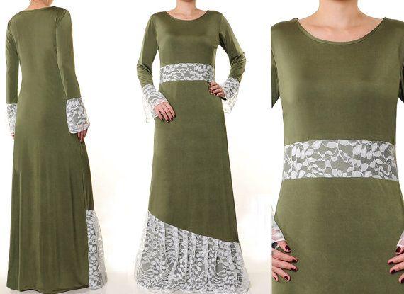 Jersey Lace bescheiden islamisches Abaya Kleid von MissMode21