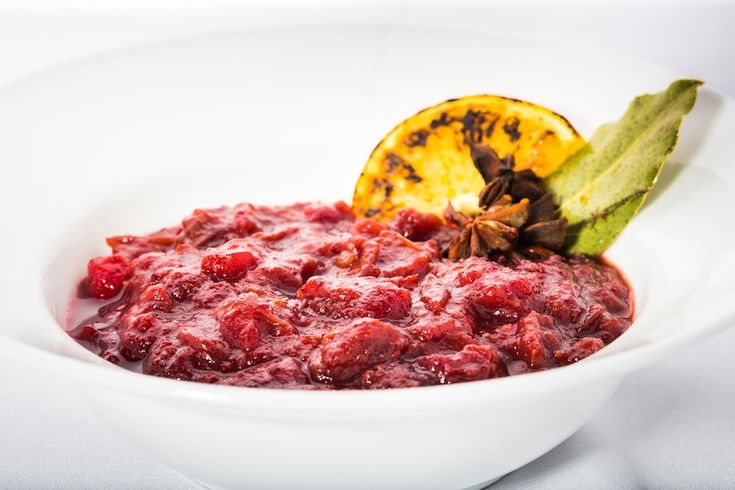 Traditional christmas cranberry sauce from four seasons for Spiced cranberry sauce with orange and star anise