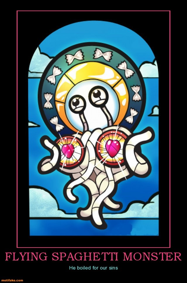 Atheism, Religion, God is Imaginary, Humor, Flying Spaghetti Monster, Sin. Flying Spaghetti Monster. He boiled for our sins.