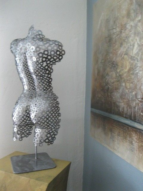 Metal wall art sculpture abstract torso by holly by onlyart76 for Art moderne sculpture