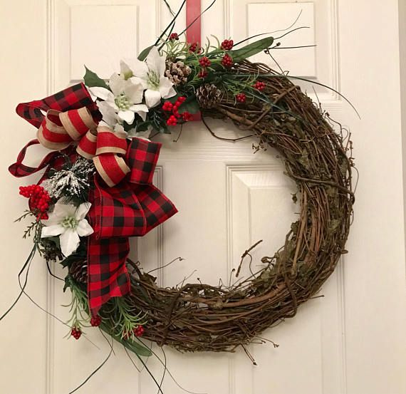 holiday christmas antler wreath - 570×553