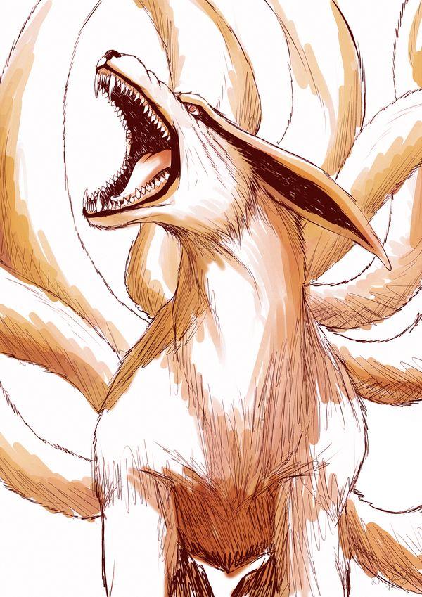 Kurama Sketch| Naruto by DivineImmortality on deviantART