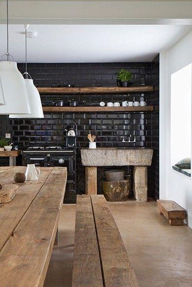 Impermo - Zwarte metrotegel... Als wandtegel in onze nieuwe keuken! *droom*