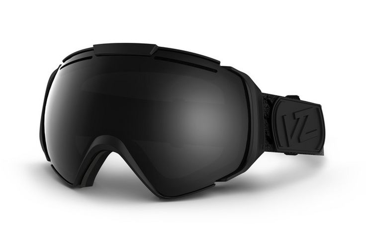 VonZipper Asian Fit ski & snowboard goggle in black satin with a black chrome lens