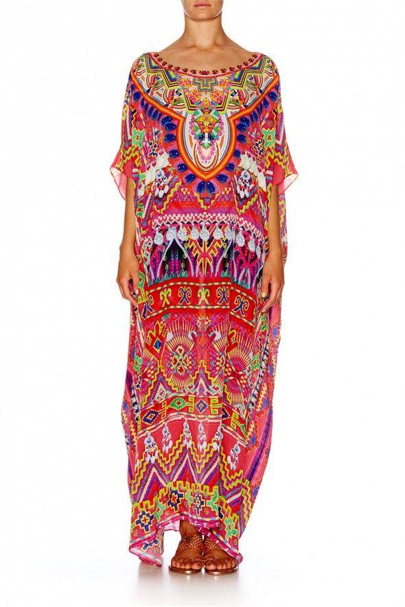 Camilla - Sacred Weave Round Neck Kaftan