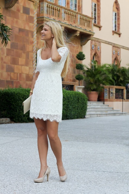 // southern charm | there is classy elegance in a simple white lace dress