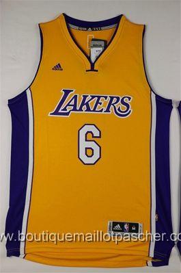 maillot nba pas cher Los Angeles Lakers Clarkson #6 Jaune nouveaux tissu 22,99€
