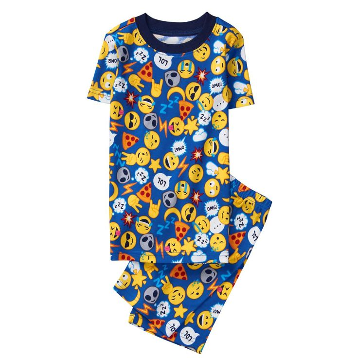 Boy Emoji Print Emoji 2-Piece Pajamas by Gymboree