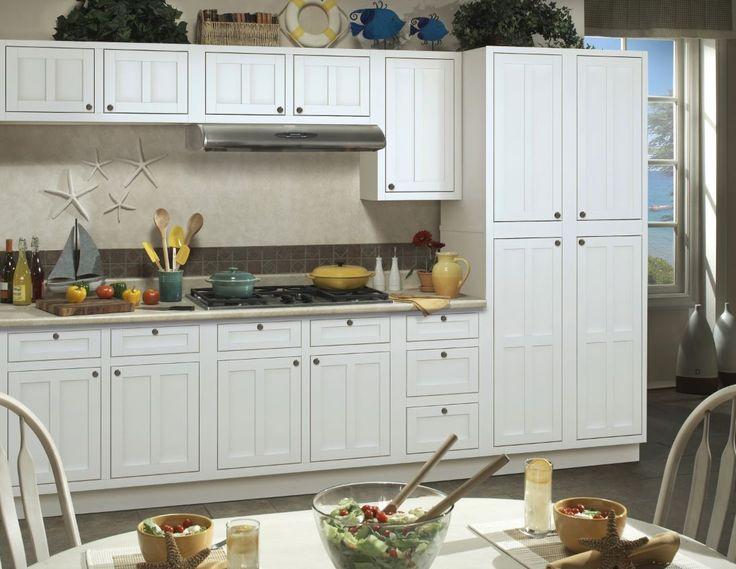 17 best basement remodel images on pinterest bath for Sanibel white kitchen cabinets