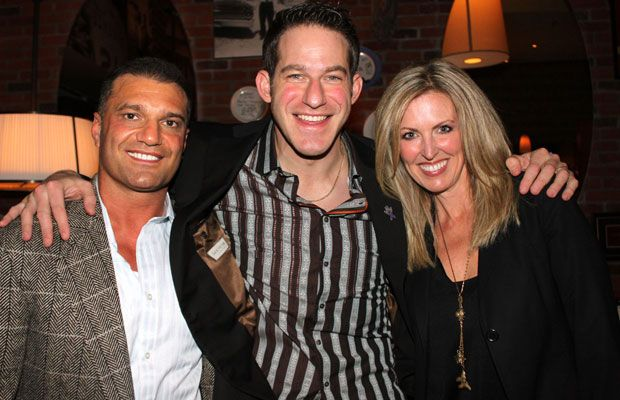 Stuntman Stu with Tony Greco and Melissa Shabinsky at Fratelli restaurant fundraiser, Nov 2010