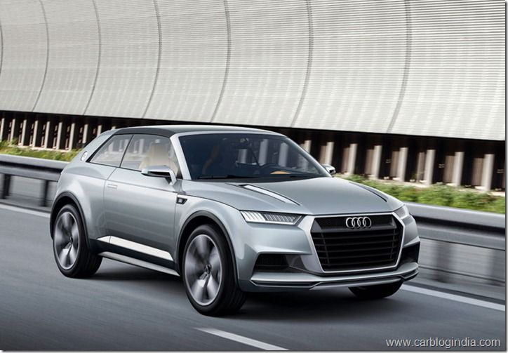 Audi Crosslane Concept SUV Coupe Raveled In Paris