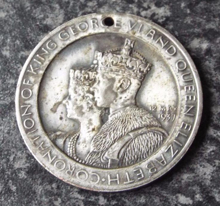 King George VI 1937 Coronation Medal / Medallion - Westminster Abbey