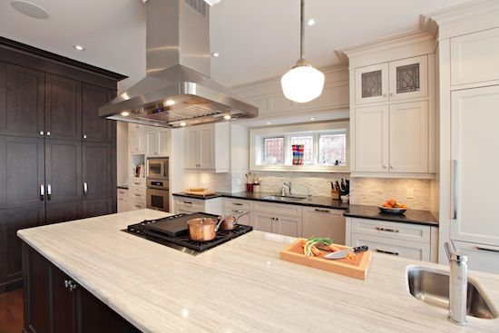 Custom Shaker Style Green Eco-Friendly Kitchen Completed in the Rosedale Neighbourhood of Toronto