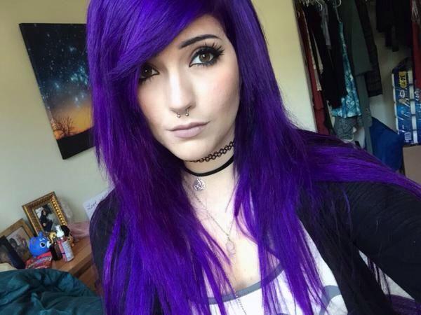 Leda Muir Purple Hair - Arctic Fox Purple Rain - #CrueltyFree #Vegan