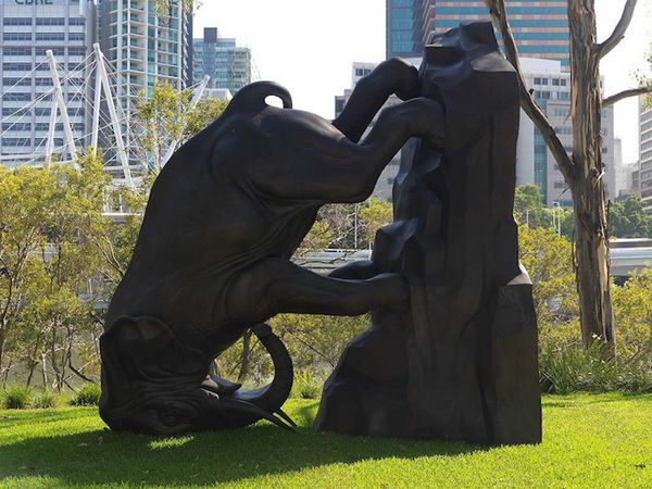 """The World Turns"" Sculpture by Michael Parekowhai"