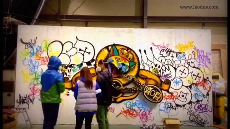 "AOA""사뿐사뿐"" 그래피티 메이킹영상입니다. Graffiti by Leodav www.leodav.com"
