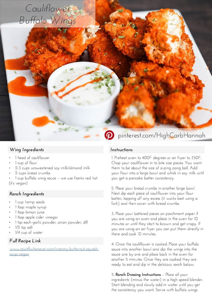 Cauliflower Buffalo Wings using Air Fryer AND Vegan Ranch! - Vegan