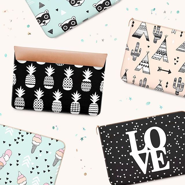 Cute laptop sleeves will look great all wrapped under the tree.  #dailyobjects #laptopsleeve #pineapple #love #indian #cactus #icecream #teepee #raccoon #print #illustration #illustratie #christmasgift #blogst #littlesmilemakers