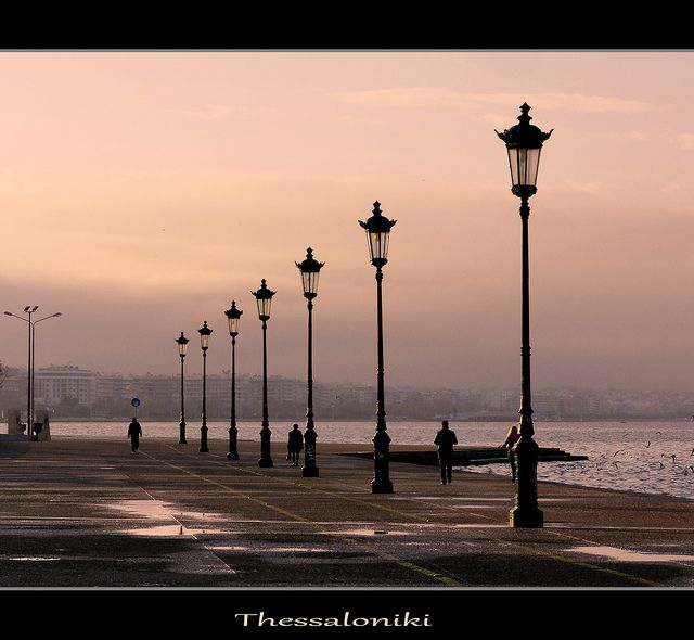 Sunrise in Thessaloniki by VD photography, via Flickr