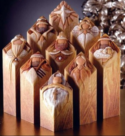 LOVE this nativity set - Pillars of Heaven - designed by Kim Lawrence. This is my addition to my collection for 2012