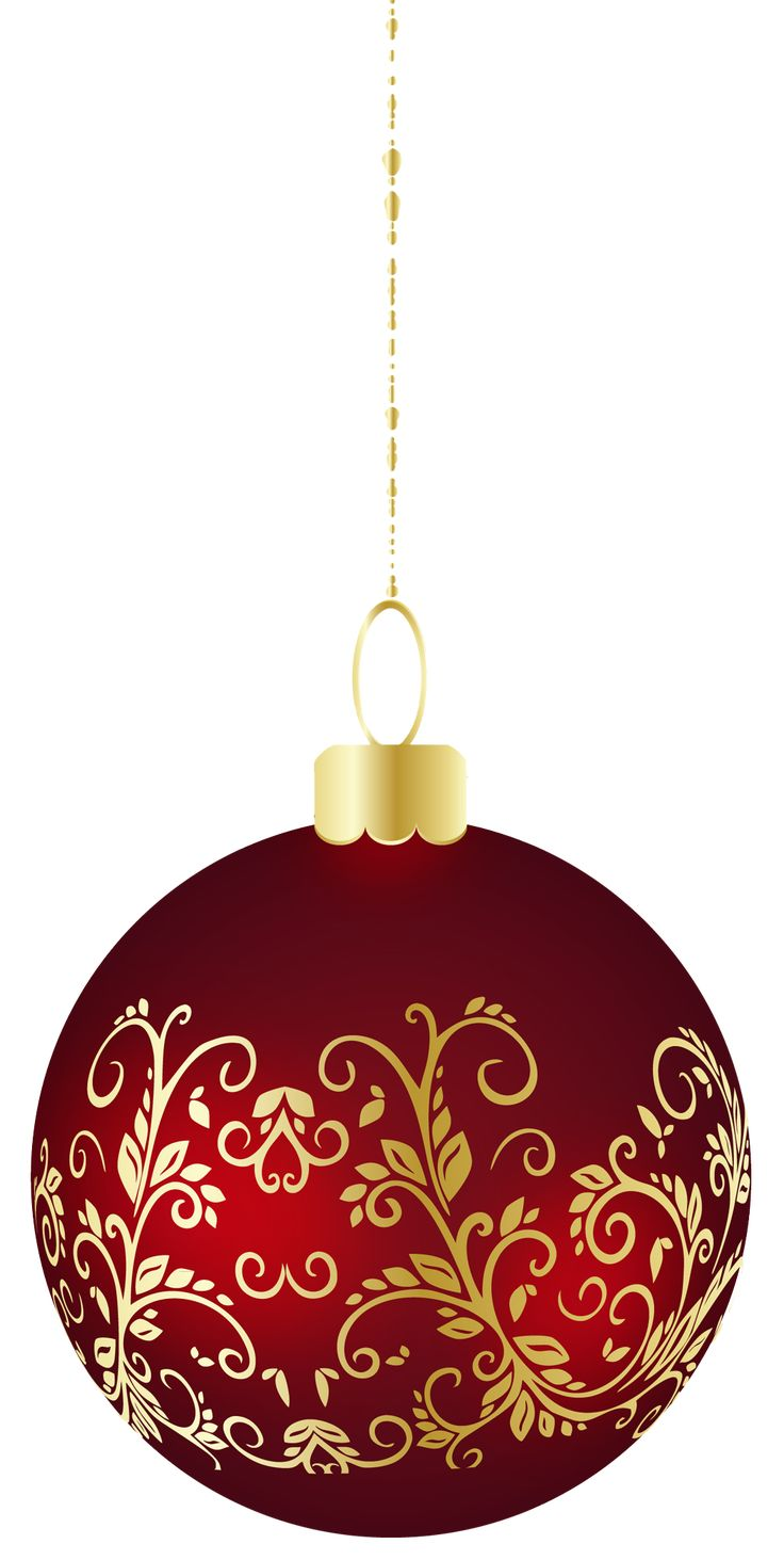 Maroon Christmas Ornaments Part - 27: Large Transparent Christmas Ball Ornament PNG Clipart