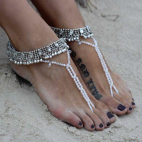 TatiTati Boho Style *  Desire Crystal jewelled barefoot sandals