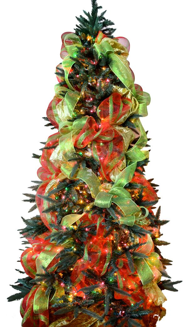 Decorate Christmas Tree Garland : Best images about christmas trees ornaments wreaths