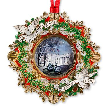 The 2013 White House Christmas ornament honors Woodrow Wilson, the twenty-eighth president of the United States. The years of Wilson's two terms in office, from 1913 to 1921, are defined by the unprecedented devastation of World War I, yet Wilson himself would be awarded the Nobel Peace Prize in 1919, and his life is ...