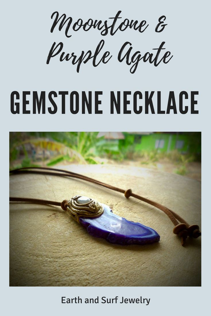 Moonstone & Agate Healing Crystal Necklace, Purple stone clay healing crystal Pendant, polymer clay healing crystal necklace, #healingcrystaljewelry, #healingstones, #polymerclay