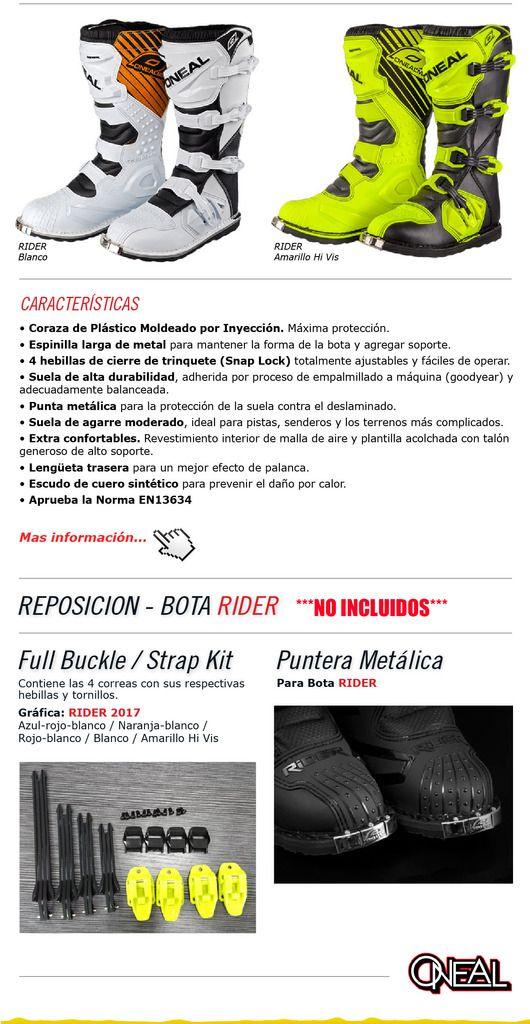 Botas Enduro Motocross Oneal Rider 2017 Nuevas Color Fluo - $ 4.599,00 en Mercado Libre