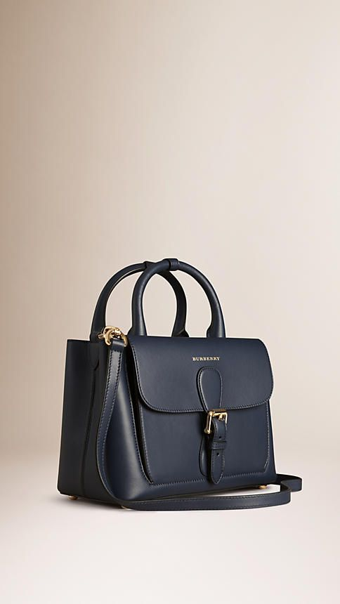 Blue carbon The Small Saddle Bag in Smooth Bonded Leather | Burberry - $3,250
